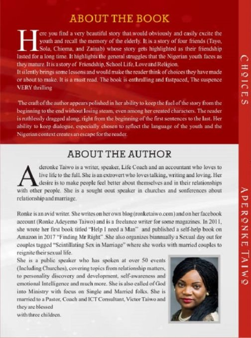 CHOICES BACK BY RONKE TAIWO