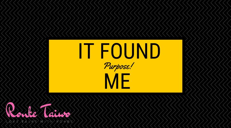 It found Me
